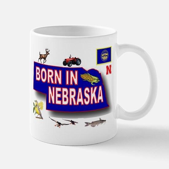 NEBRASKA BORN Mugs