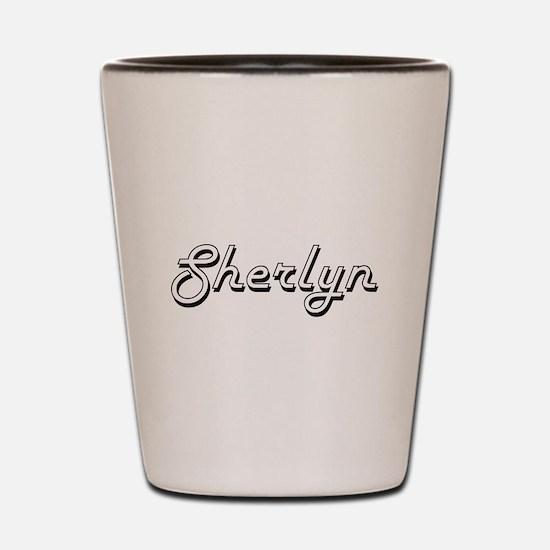 Sherlyn Classic Retro Name Design Shot Glass