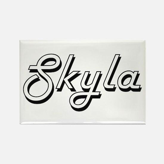 Skyla Classic Retro Name Design Magnets