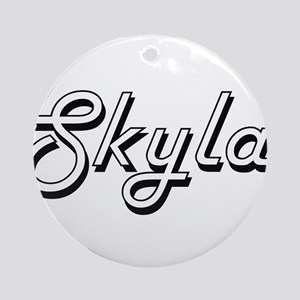 Skyla Classic Retro Name Design Ornament (Round)