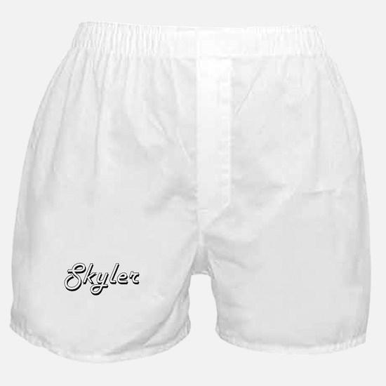 Skyler Classic Retro Name Design Boxer Shorts