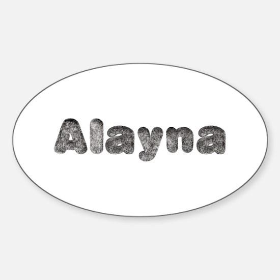 Alayna Wolf Oval Decal