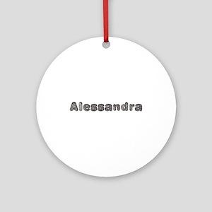 Alessandra Wolf Round Ornament