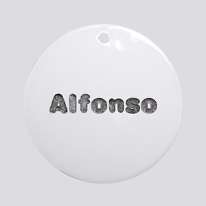 Alfonso Wolf Round Ornament