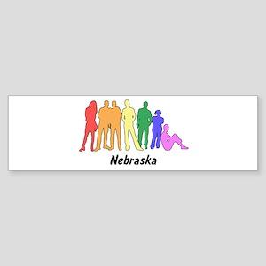 Nebraska diversity Bumper Sticker