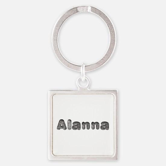 Alanna Wolf Square Keychain