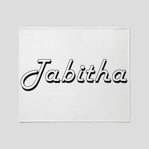 Tabitha Classic Retro Name Design Throw Blanket