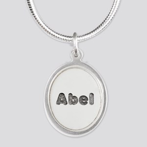 Abel Wolf Silver Oval Necklace