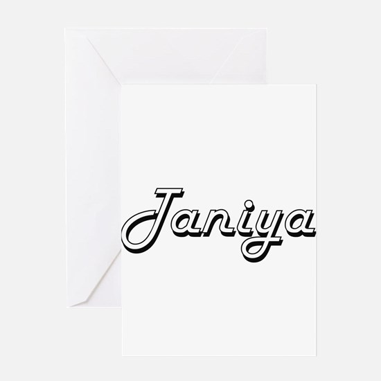 Taniya Classic Retro Name Design Greeting Cards