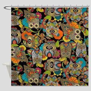 Owls print Shower Curtain