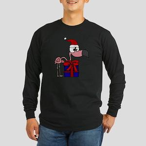 Funny Flamingo and Christmas G Long Sleeve T-Shirt