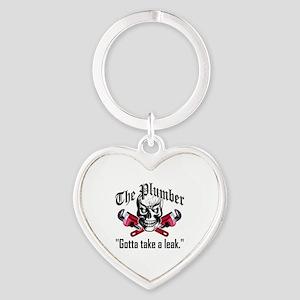 Plumber Skull 3.1 Heart Keychain