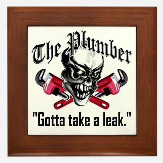 Plumber Skull 5: Take a Leak Framed Tile