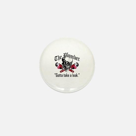 Plumber Skull 5: Take a Leak Mini Button