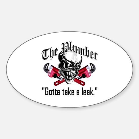 Plumber Skull 5: Take a Leak Sticker (Oval)