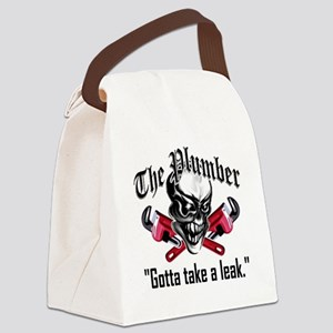 Plumber Skull 5: Take a Leak Canvas Lunch Bag