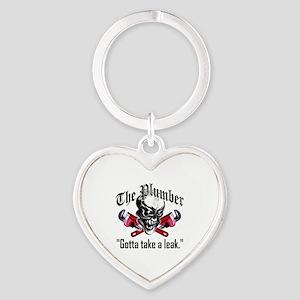 Plumber Skull 5: Take a Leak Heart Keychain