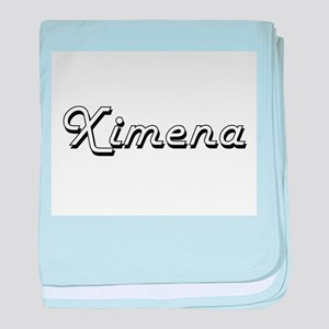 Ximena Classic Retro Name Design baby blanket