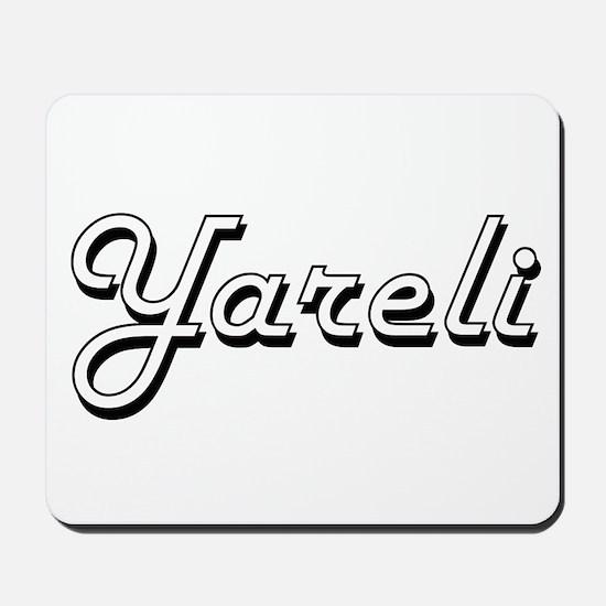 Yareli Classic Retro Name Design Mousepad