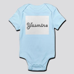 Yasmine Classic Retro Name Design Body Suit