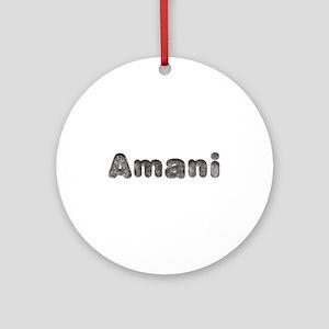 Amani Wolf Round Ornament