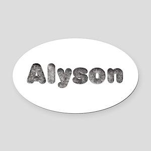 Alyson Wolf Oval Car Magnet