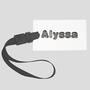 Alyssa Wolf Large Luggage Tag