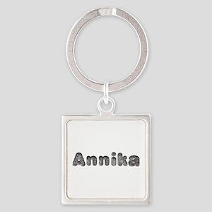 Annika Wolf Square Keychain