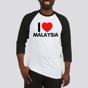 I Love Malaysia Baseball Jersey