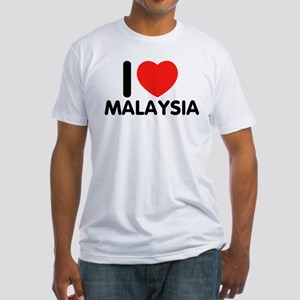 I Love Malaysia Fitted T-Shirt