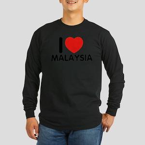 I Love Malaysia Long Sleeve Dark T-Shirt