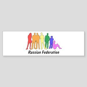 Russian Federation diversity Bumper Sticker