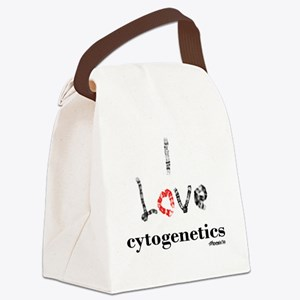 I love Cytogenetics Chromosome Le Canvas Lunch Bag