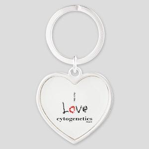 I love Cytogenetics Chromosome Lett Heart Keychain