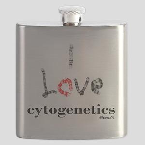 I love Cytogenetics Chromosome Letters Flask