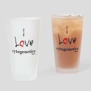 I love Cytogenetics Chromosome Lett Drinking Glass