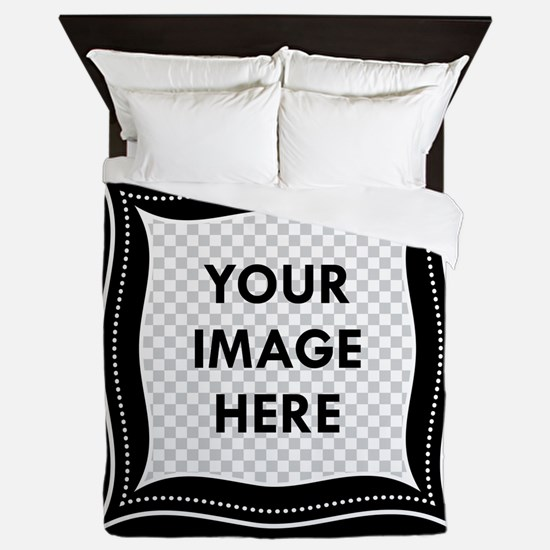 CUSTOM Photo Frame Black Queen Duvet