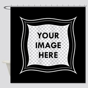 CUSTOM Photo Frame Black Shower Curtain