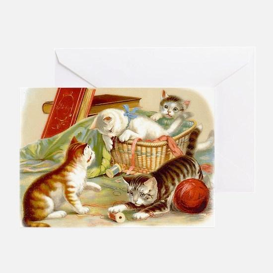 Unique Yarn vintage Greeting Card
