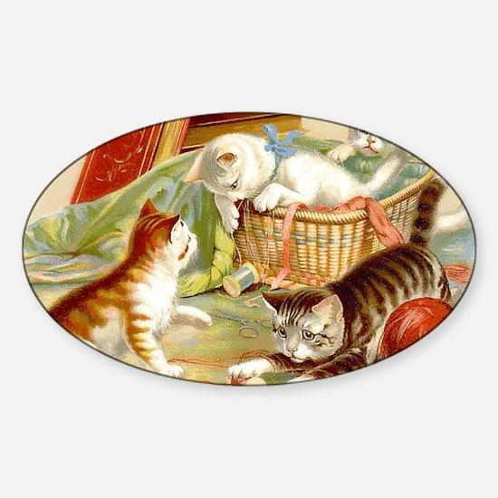 Unique Yarn vintage Sticker (Oval)