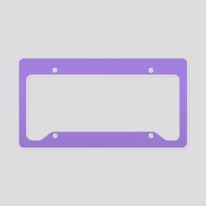 Light Violet License Plate Holder