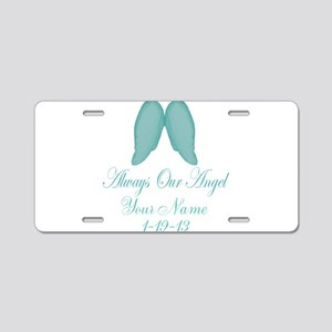 Always Our Angel Blue Aluminum License Plate