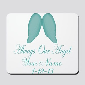 Always Our Angel Blue Mousepad