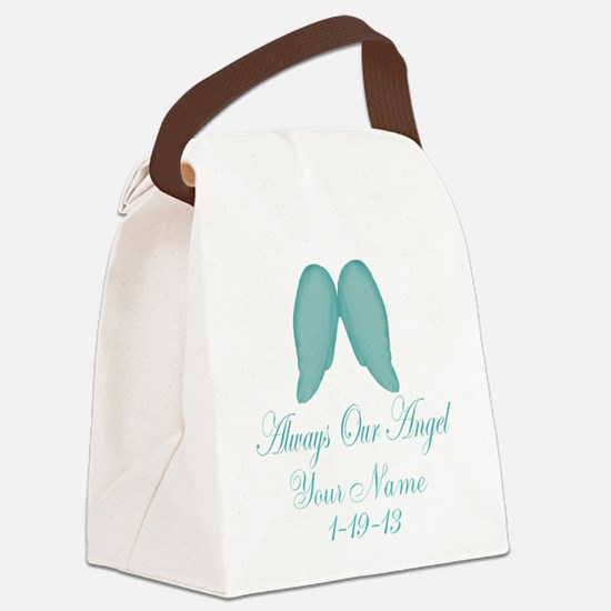 Always Our Angel Blue Canvas Lunch Bag