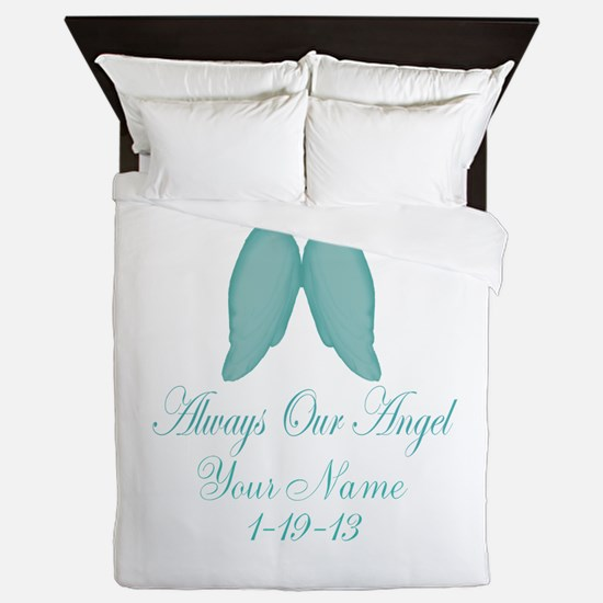 Always Our Angel Blue Queen Duvet