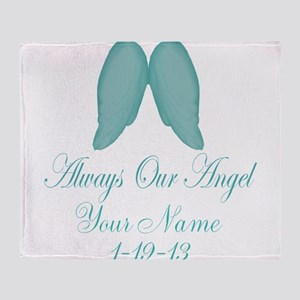 Always Our Angel Blue Throw Blanket