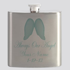 Always Our Angel Blue Flask
