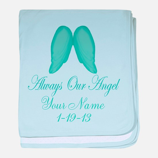 Always Our Angel Blue baby blanket