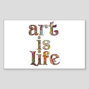 Art is Life Sticker (Rectangle)