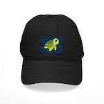 Sea Turtle Navy Stripes Baseball Hat